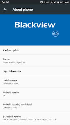 Blackview E7 V2 Custom Rom For Infinix Hot 4 Pro