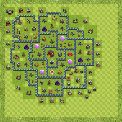 War Base Town Hall Level 10 By Paresh6655 (Love TH 10 Layout)