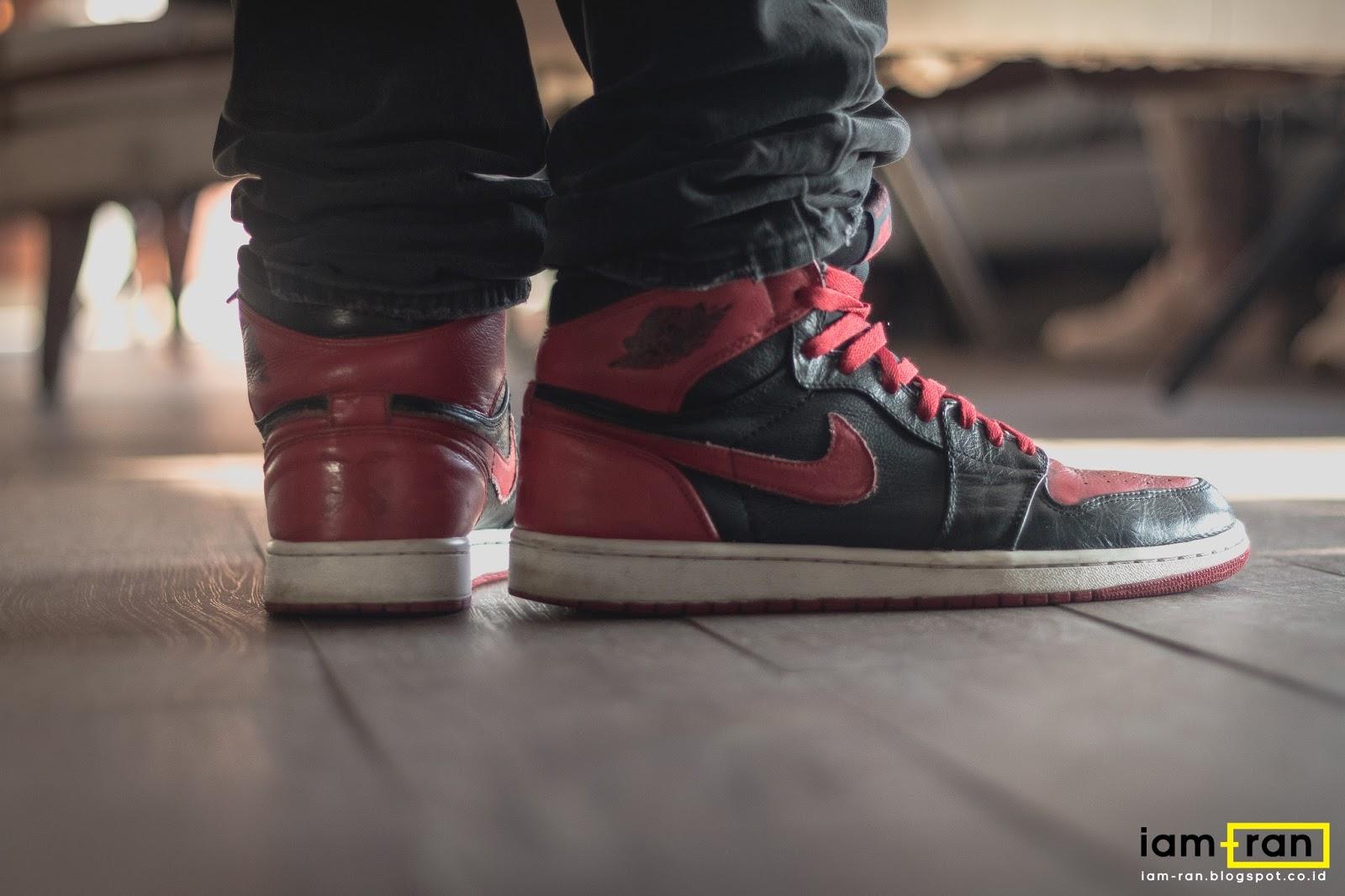 3b5de5b6af9 IAM-RAN: ON FEET : In.Dhika - Nike Air Jordan 1 Bred
