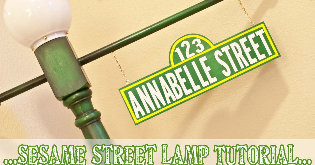 My Simple Obsession: Sesame Street Post Sign Tutorial