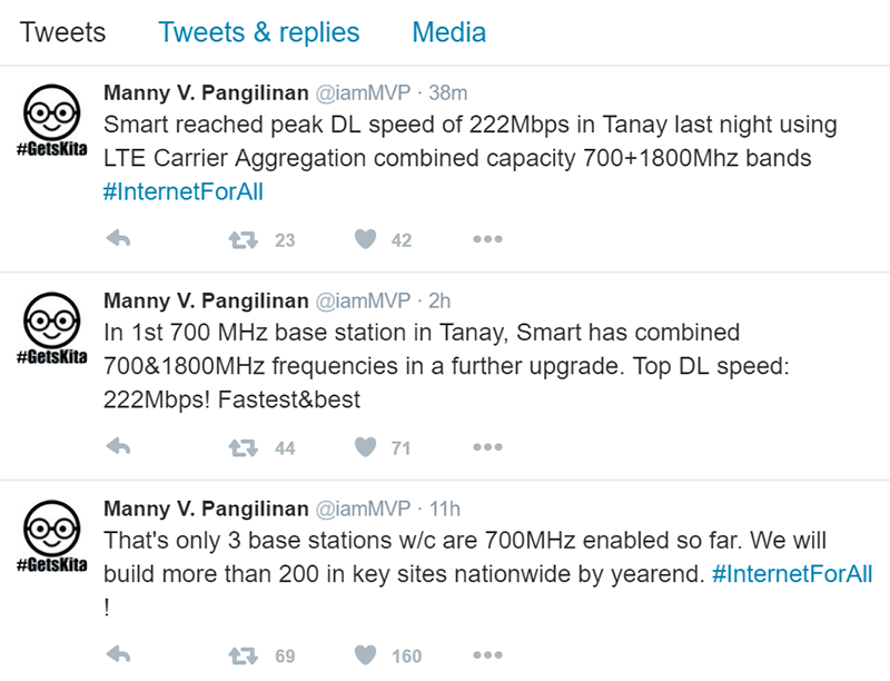Smart launched 3 strategic 700 MHz cell sites