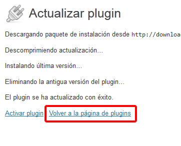 activar el plugin WordPress