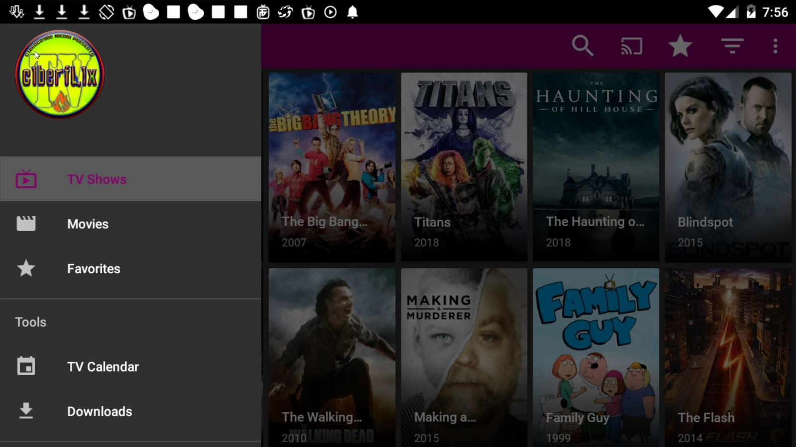 CyberFlix TV Apk App 2019 for Android or Amazon Fire Devices