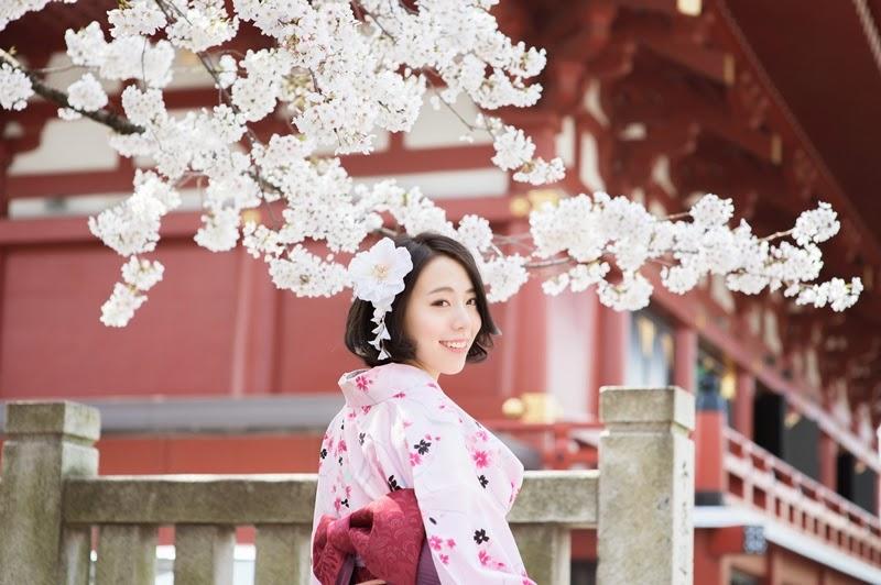 日本櫻花季和服體驗攝影寫真
