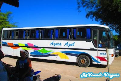 Ônibus que faz o trajeto Arraiala d'Ajuda/Trancoso até Caraíva