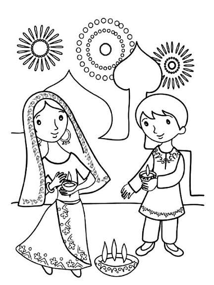 Diwali Drawing Competition Pictures