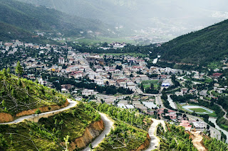 View of Thimphu city from BuddhaPoint