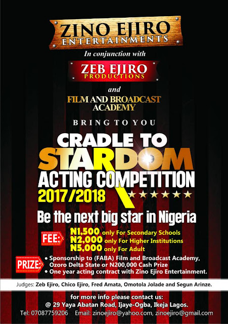 cradle to stardom acting competition