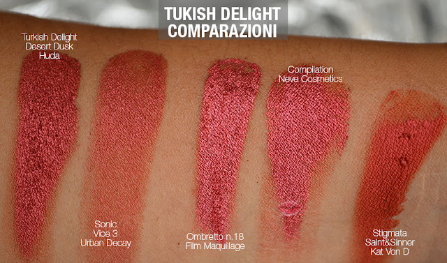 swatch dupe turkish delight huda beauty desert dusk