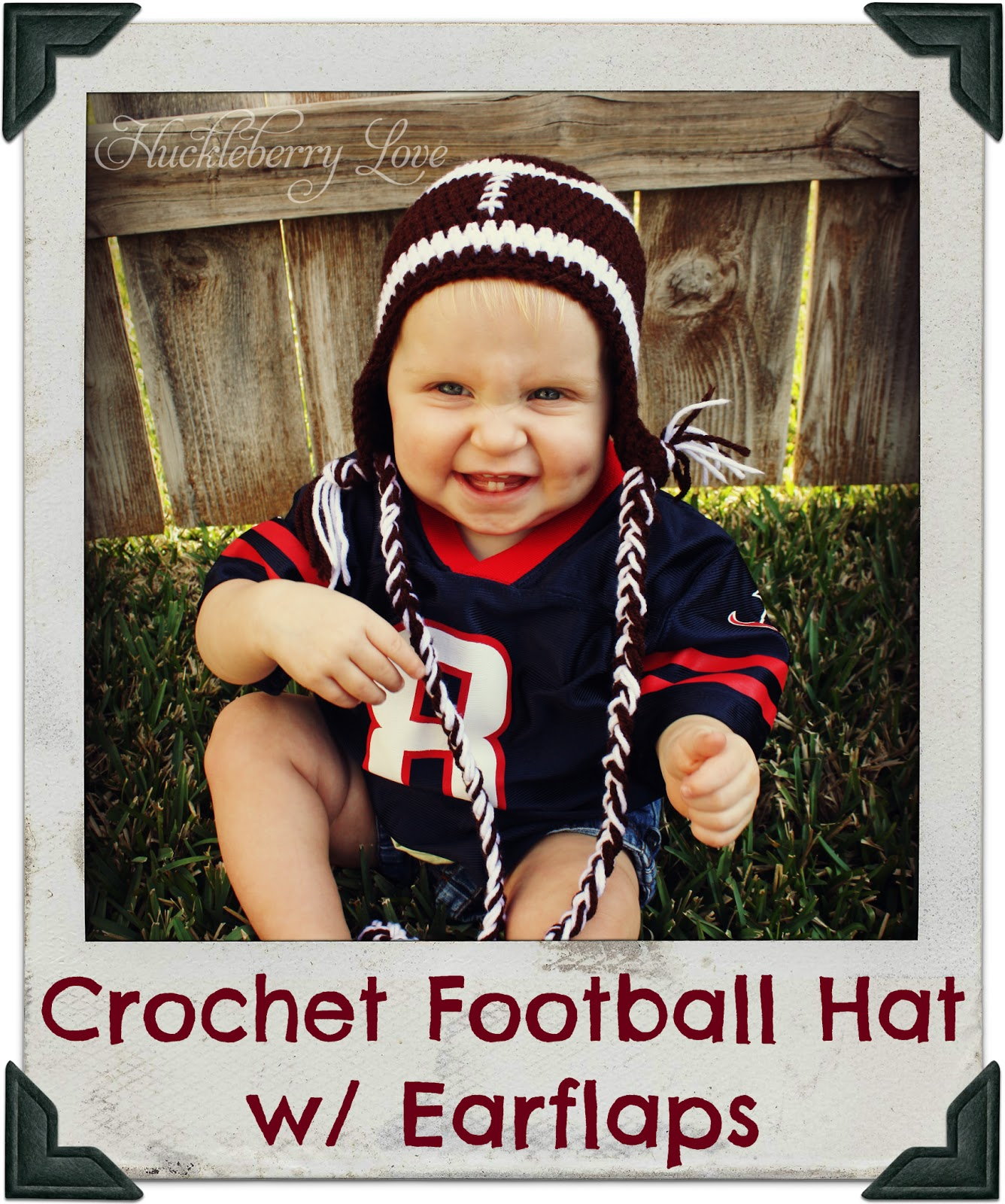 a8ae86ab Huckleberry Love: Crochet Football Hat w/ Earflaps {Free Pattern}