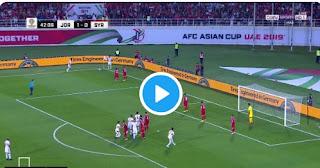 فيديو|| منتخب النشامى يحقق أفضل علامة بثنائية أمام سوريا الجولة الثانية لكأس آسيا 2019