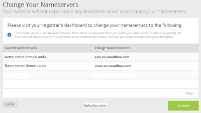kalautau.com - Change Your Nameservers cloudflare
