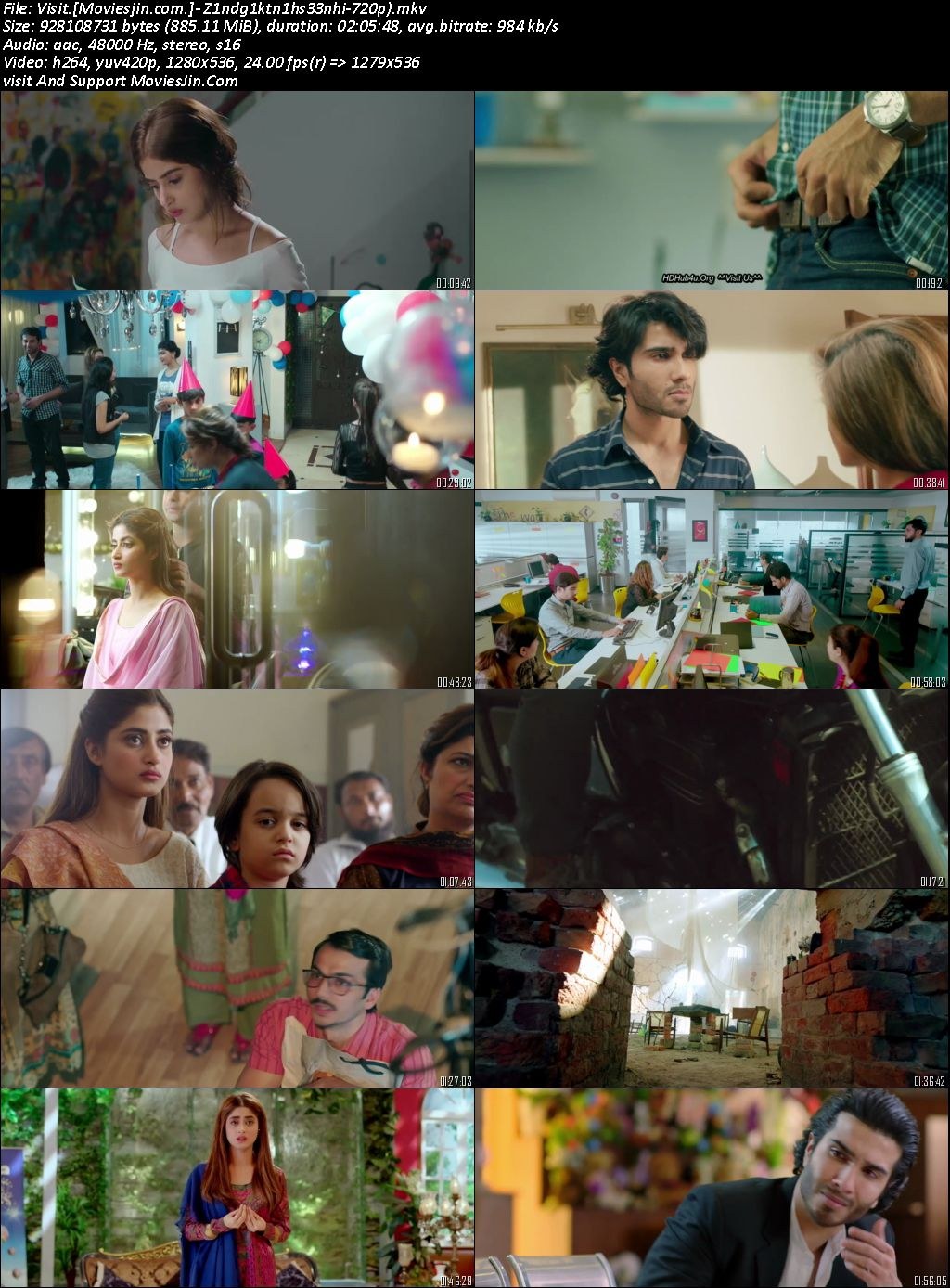 Zindagi Kitni Haseen Hy 2016 Pakistani 720p HDrip 800MB