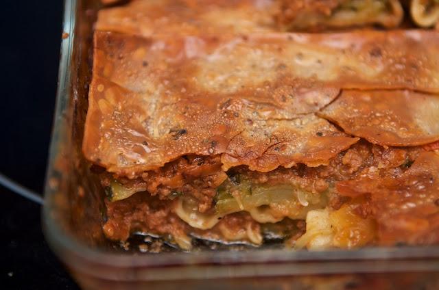 Lasagnes - Bolognaise - Lasagnes aux Courgettes - Cuisine - Zucchini - Légumes - Viande - Lasagnes - Plat - Cooking -Food - Lasagna