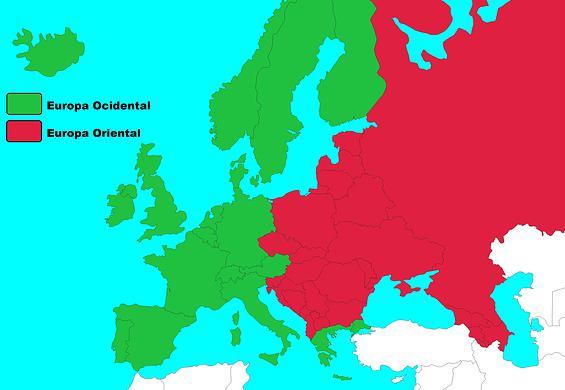 mapa europa ocidental A Europa Ocidental: mapa, localização, história e países: resmo  mapa europa ocidental