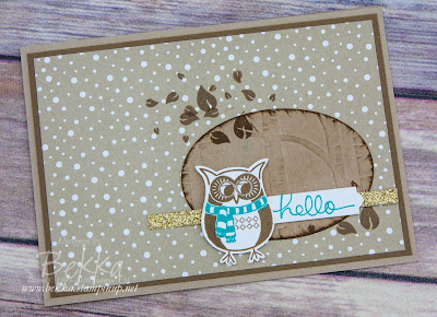 Cozy Critters Owl Hello Card to Welcome a New Stampin' Super Star  - Find out more here