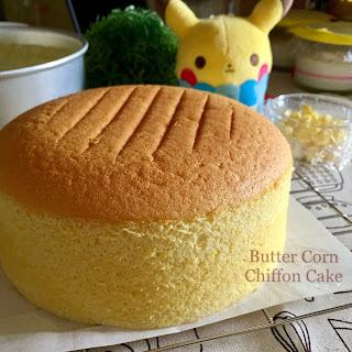 My Mind Patch Butter Corn Chiffon Cake 牛油玉米威风蛋糕