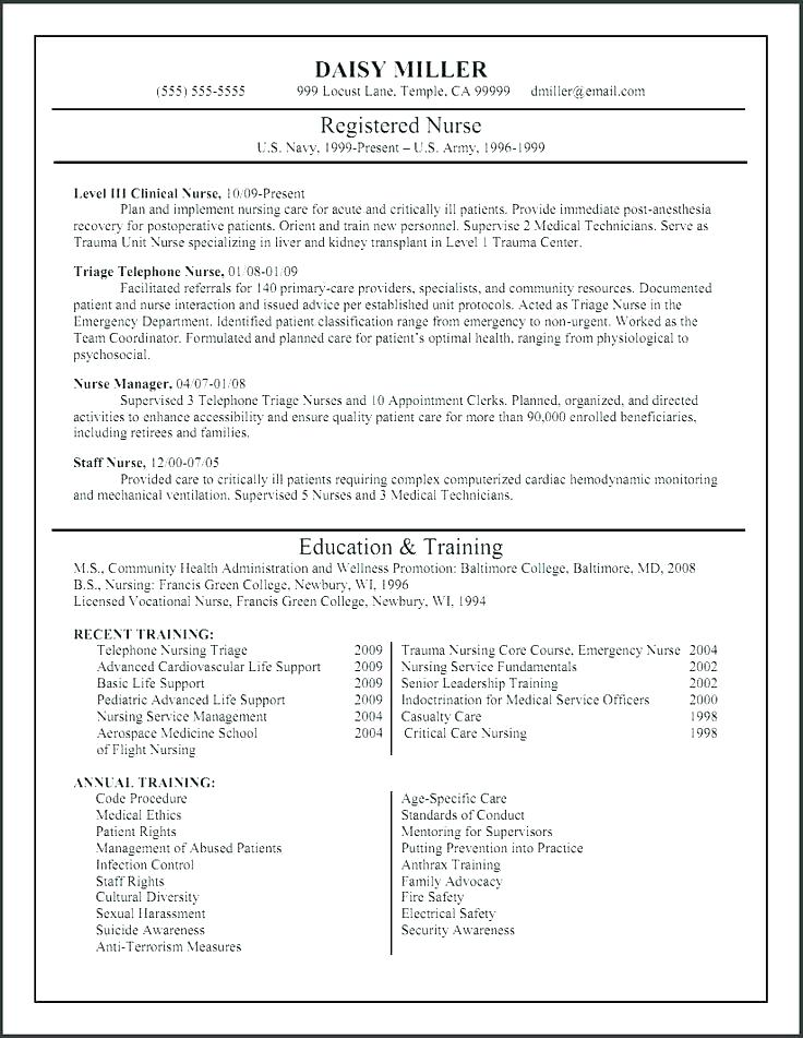Icu nurse resume examples 2019 - Resume Templates