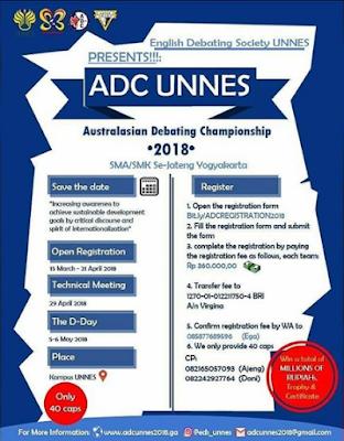 Australasian Debating Championship 2018 Unnes
