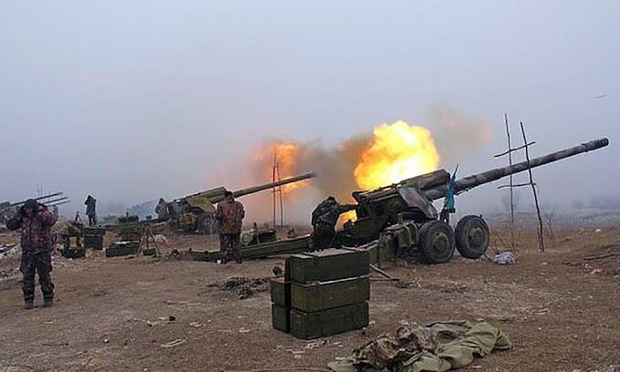 Донбасс под шквальным огнём. Правосеки и ВСУ уничтожают друг друга