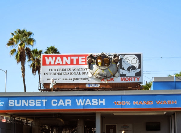 Rick and Morty crashed UFO special billboard