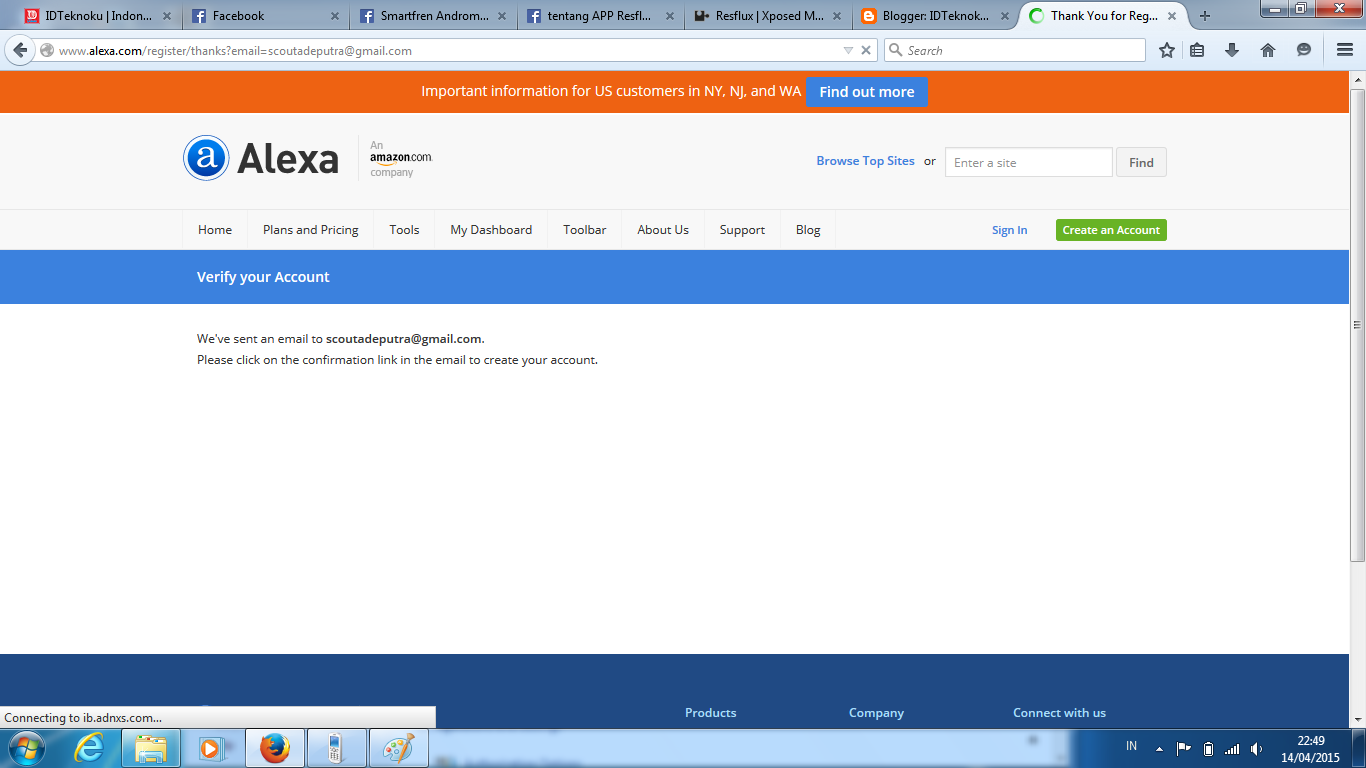 Global Site Rank di Alexa.com