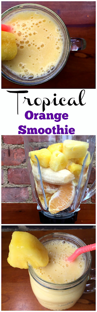 EASY BREEZY TROPICAL ORANGE SMOOTHIE RECIPE