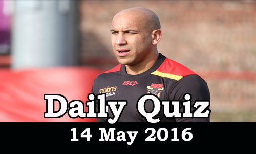 Daily Current Affairs Quiz - 14 May 2016