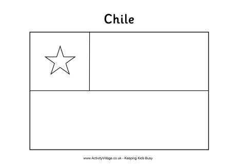 colorear la bandera de Chile