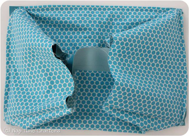 collapsible storage bin pattern piece