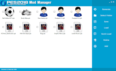 PES 2018 Mod Manager by MES Modder