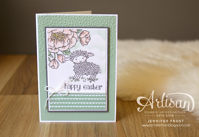 Birthday Blooms, Birthday Bouquet Papers, Easter Lamb, Stampin' Up!, Papercraft by Jennifer Frost, Happy Easter