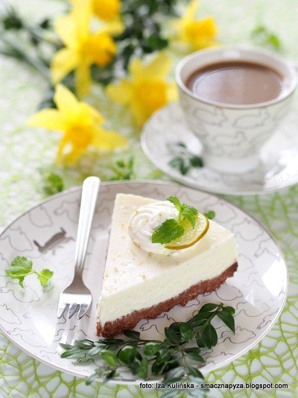 kawalek sernika, sernik limonkowy, sernik z limonkami, lime cheesecake