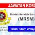 Job Vacancy at Maktab Rendah Sains Mara (MRSM)