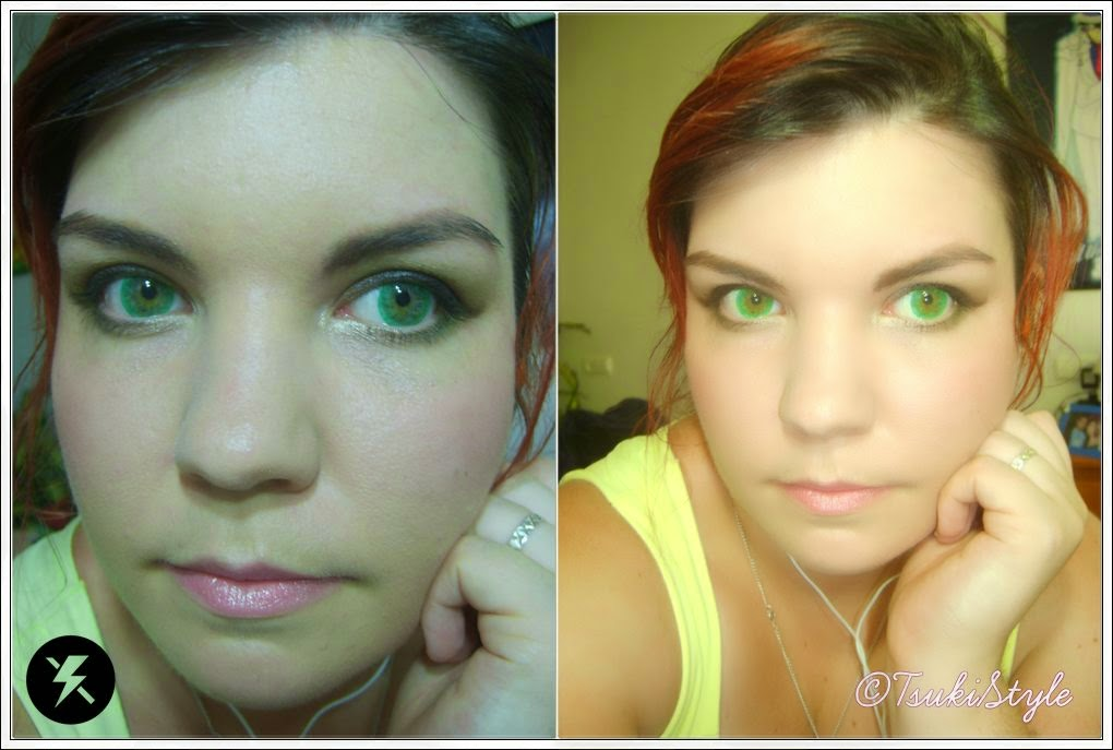 circle lenses uniqso ice melon green tsuki style makeup