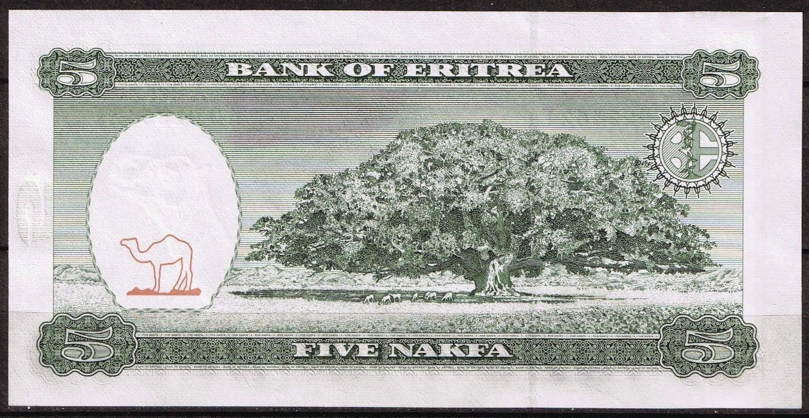 Currency of Eritrea 5 Nakfa Note