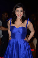 Mannara Chopra in Deep Neck Blue Gown at Zee Telugu Apsara Awards ~  Exclusive 018.jpg