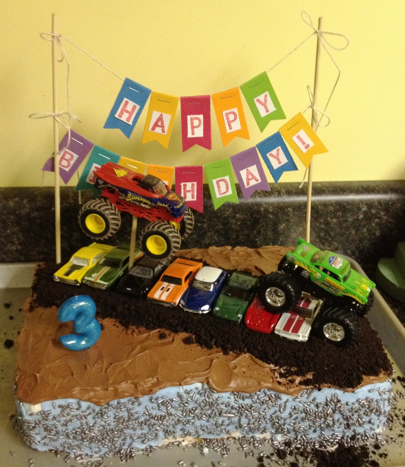 Whimsikel Monster Truck Birthday Cake