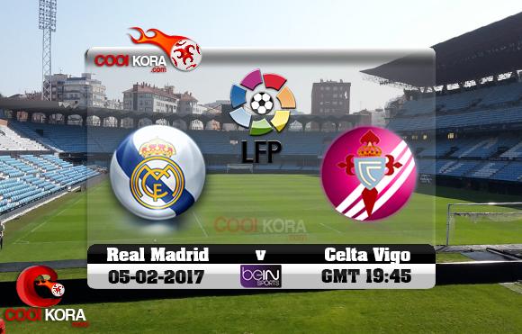 مشاهدة مباراة سيلتا فيغو وريال مدريد اليوم 5-2-2017 في الدوري الأسباني
