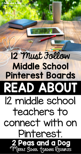 A collection of 12 must follow middle school Pinterest boards.