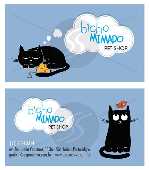 cartao de visita pet shop porto alegre - Cartões de Visita Pet Shop