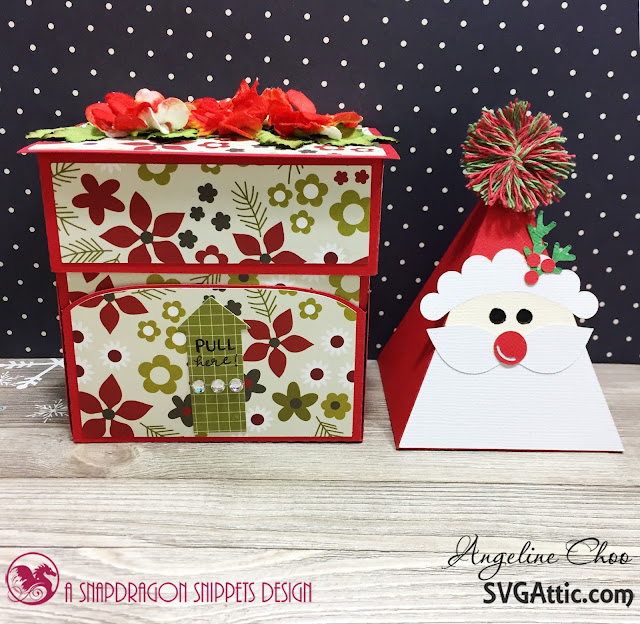 ScrappyScrappy: Ho Ho Holiday Santa Candy with SVG Attic #scrappyscrappy #svgattic #christmas #holiday #candydispenser #simplestories #santa #giftbox