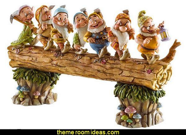 "Disney Traditions by Jim Shore Snow White and the Seven Dwarfs figurine ""Homeward Bound"""