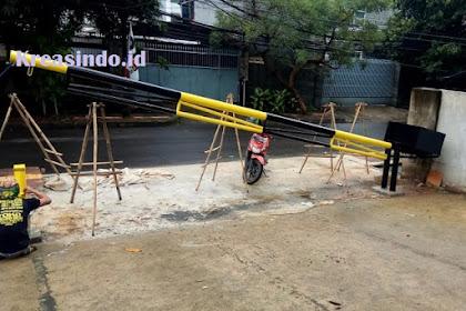Portal Besi pesanan PT Interboga Makmur Perkasa di Proyek Thamrin Jakarta Pusat