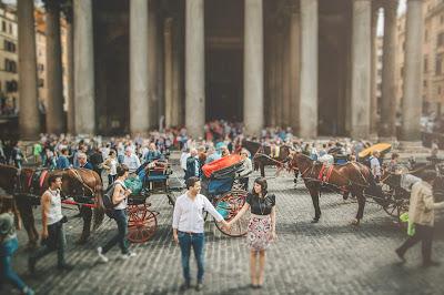 foto sposi roma pantheon