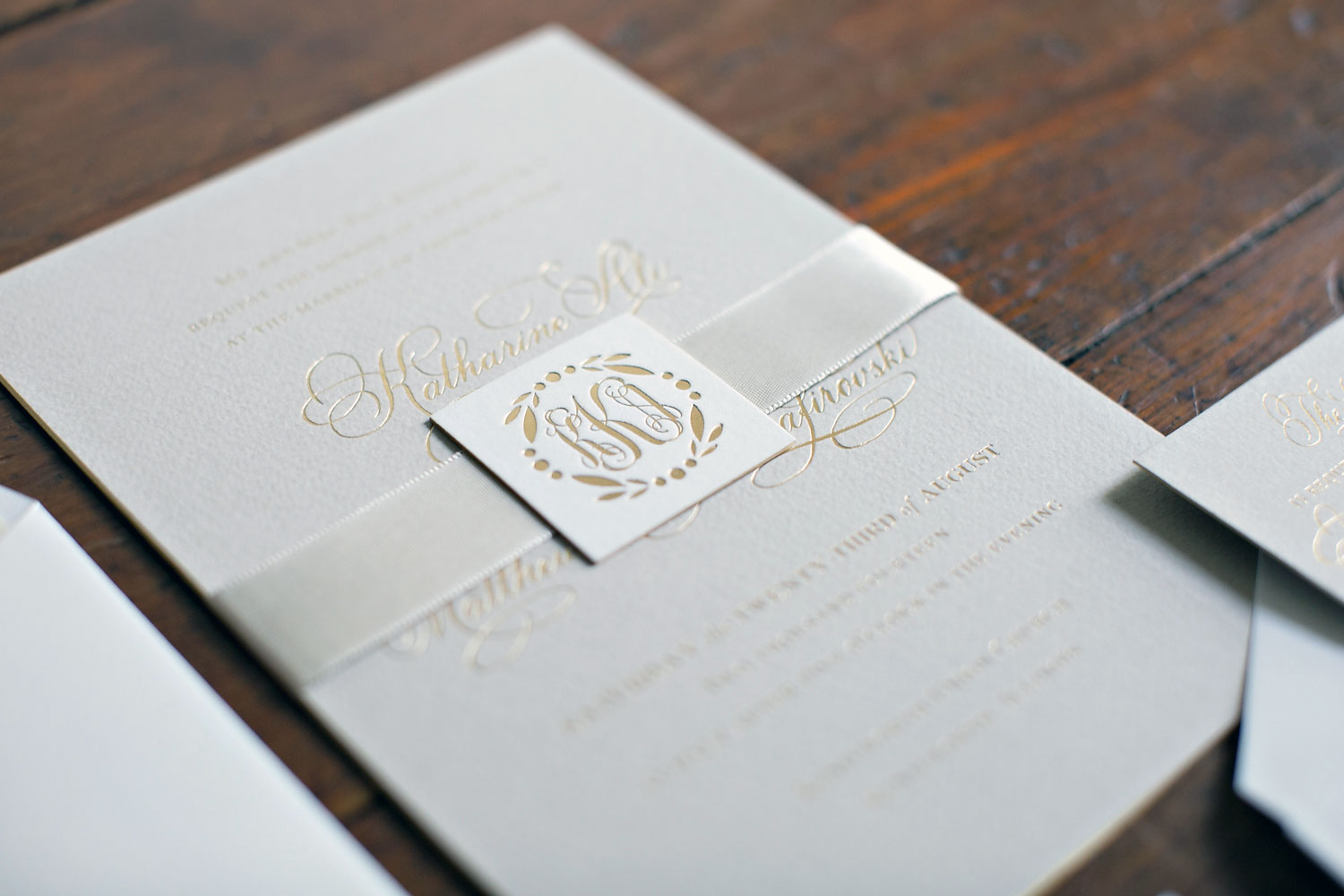 Elegant Monogram Wedding Invitations: Elegant Garden Wedding ⋆ Nico & Lala