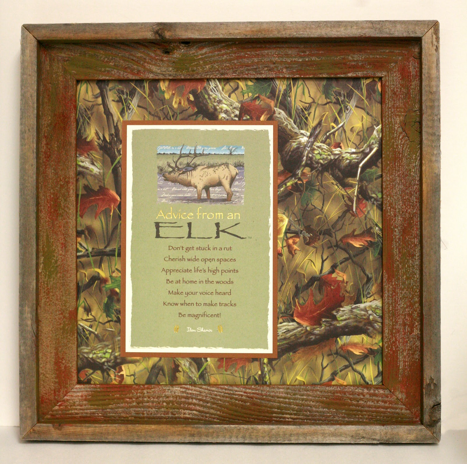 Ben Franklin Crafts and Frame Shop: Advice From an Elk Wall Art