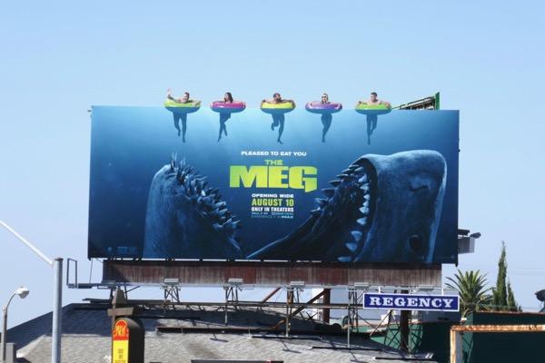 The Meg film billboard