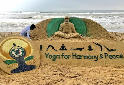 international yoga day sandart
