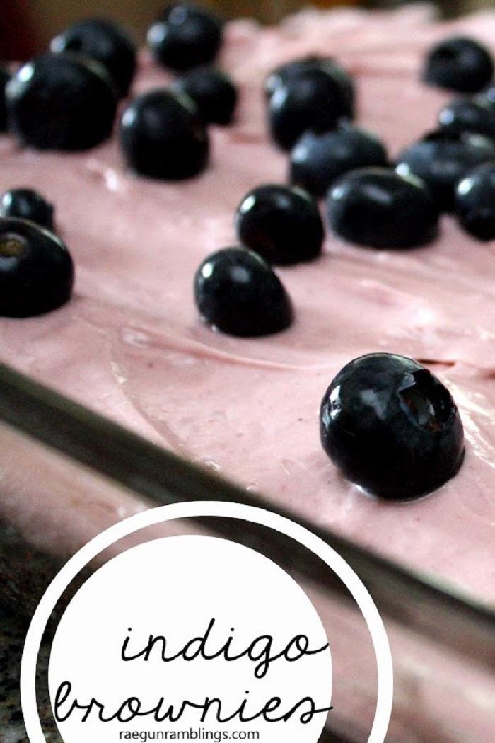 Indigo Berry Brownies